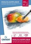 Canson Huile & Acrylique / Öl & Acryl Block A3 290g weiss 10 Blatt