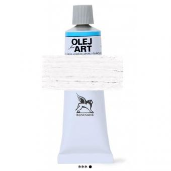 02 Titanweiß Renesans Oils for Art 60ml Metalltube