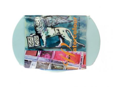 10er Set Renesans Aquarellfarbe Godet 1/2 Napf Kunstsoffetui