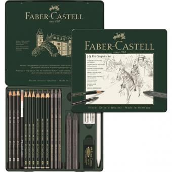 Faber Castell PITT Graphite Set medium 19er Metalletui