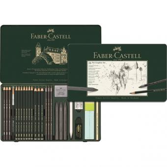 Faber Castell PITT Graphite Set groß 26er Metalletui