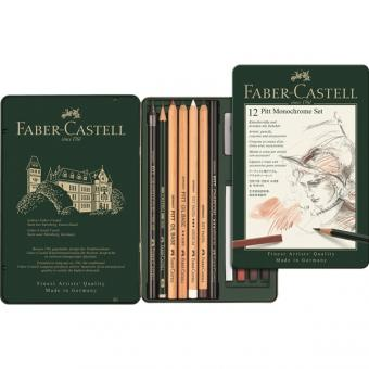 Faber Castell PITT Monochrome Set klein 12er Metalletui