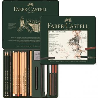 Faber Castell PITT Monochrome Set medium 21er Metalletui