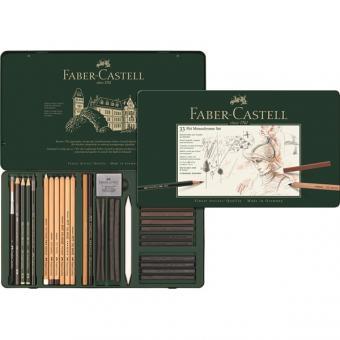 Faber Castell PITT Monochrome Set groß 33er Metalletui
