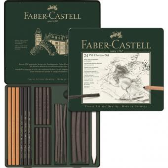 Faber Castell PITT Kohle Set 24er Metalletui