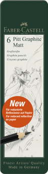 Faber Castell Pitt Graphite Matt 6er Metall-Etui