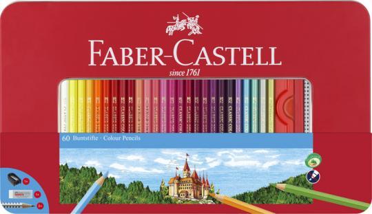 Faber Castell Classic Colour Buntstifte, 60er Metalletui