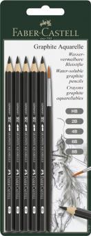 Graphite Aquarell Bleistifte 5erSet +1 Pinsel