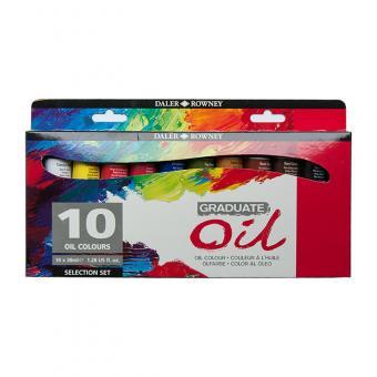 Daler Rowney Graduate Ölfarben Selection Set 10x38ml