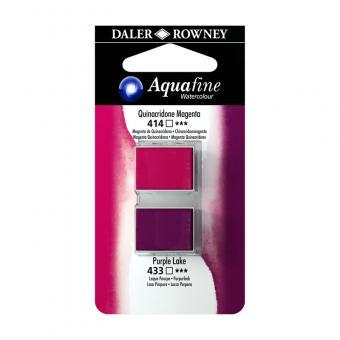 Aquafine Aquarellfarbe Halb-Näpfe 414 Chinacridonmagenta / 433 Purpurlack