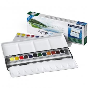 Aquafine Metalldose mit 12 Halbnäpfen