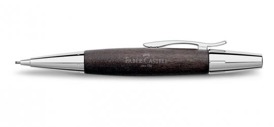 Faber Castell e-motion Drehbleistift aus schwarzes Birnbaumholz  / Chrom inkl. Gravur