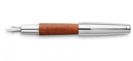 Faber Castell e-motion Füllfederhalter aus braunes Holz / Chrom  inkl. Gravur