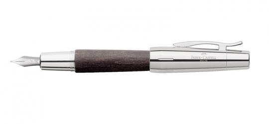 Faber Castell e-motion Füllfederhalter aus schwarzes Holz / Chrom inkl. Gravur