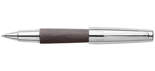 Faber Castell e-motion Tintenroller aus schwarzem Holz / Chrom inkl. Gravur