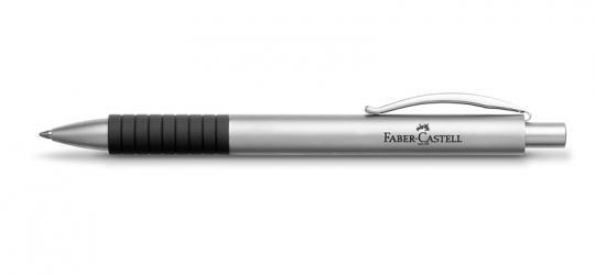 Faber Castell Basic Kugelschreiber  Metall matt verchromt inkl. Gravur