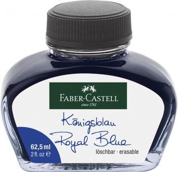 Faber Castell Tintenglas 62,5 ml Königsblau löschbar