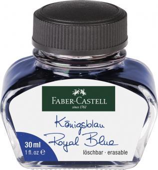 Faber Castell Tintenglas 30 ml Königsblau löschbar