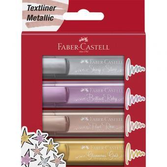 Faber Castell Textmarker TL 46 Metallic 4er Etui