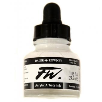Daler Rowney Liquid Acryl Tinte 011 White 29,5ml