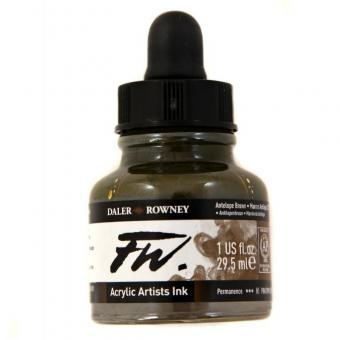 Daler Rowney Liquid Acryl Tinte 222 Antelope Brown 29,5ml