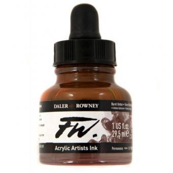 Daler Rowney Liquid Acryl Tinte 223 Burnt Umber 29,5ml