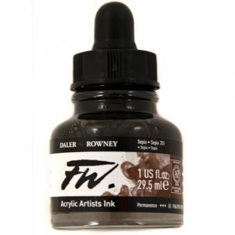 Daler Rowney Liquid Acryl Tinte 251 Sepia 29,5ml