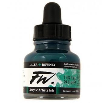 Daler Rowney Liquid Acryl Tinte 326 Dark Green 29,5ml