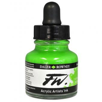 Daler Rowney Liquid Acryl Tinte 349 Fluorescent Green 29,5ml
