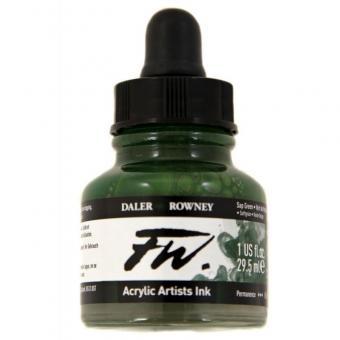 Daler Rowney Liquid Acryl Tinte 375 Sap Green 29,5ml