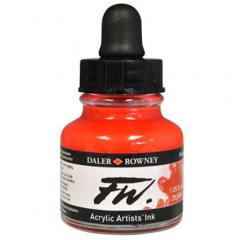 Daler Rowney Liquid Acryl Tinte 544  Fluorescent Red 29,5ml