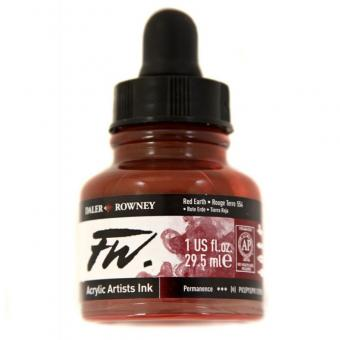 Daler Rowney Liquid Acryl Tinte 554 Red Earth 29,5ml