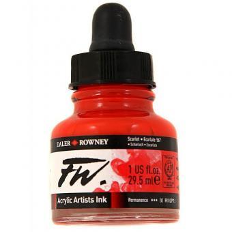 Daler Rowney Liquid Acryl Tinte 567 Scarlet 29,5ml