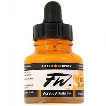 Daler Rowney Liquid Acryl Tinte 643 Indian Yellow 29,5ml