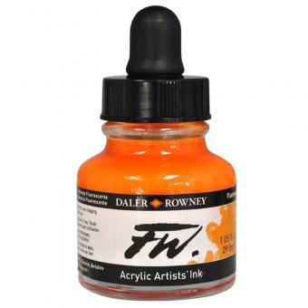 Daler Rowney Liquid Acryl Tinte 653 Fluorescent Orange 29,5ml