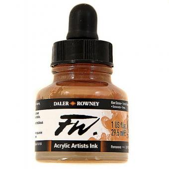 Daler Rowney Liquid Acryl Tinte 667 Raw Sienna 29,5ml