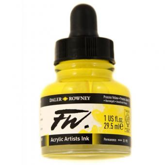 Daler Rowney Liquid Acryl Tinte 675 Process Yellow 29,5ml