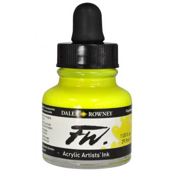 Daler Rowney Liquid Acryl Tinte 681 Fluorescent Yellow 29,5ml