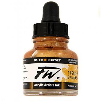 Daler Rowney Liquid Acryl Tinte 701 Gold 29,5ml