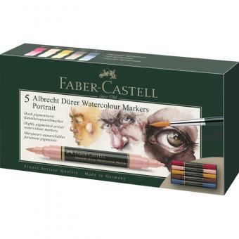Faber Castell Aquarellmarker Albrecht Dürer 5er Etui Portrait