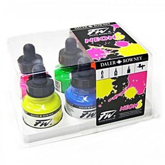 Daler Rowney FW Actylic NEON Colours Ink Set 6 x 29,5ml