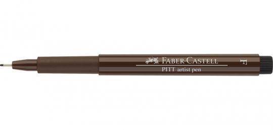 Faber Castell Tuschestift sepia dunkel 175 PITT artist pen F Fineliner