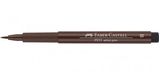 175 sepia dunkel Faber Castell Tuschestift  PITT artist pen B