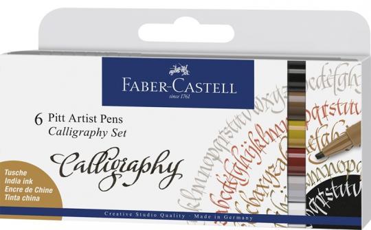 Faber Castell Callgraphy 6er Set Pitt Artist