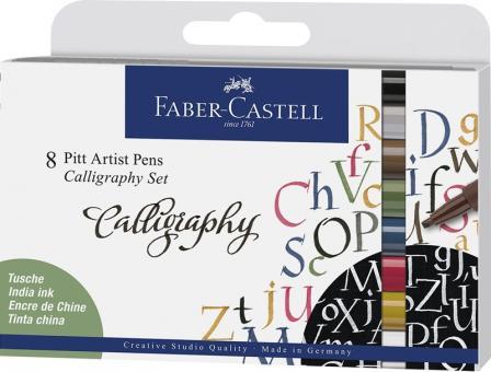 Faber Castell Callgraphy 8er Set Pitt Artist