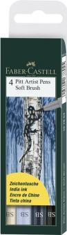 Faber Castell Tuschestift Soft Brush PITT artist pen SB 4er Set