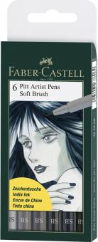 Faber Castell Tuschestift Soft Brush PITT artist pen SB 6er Set