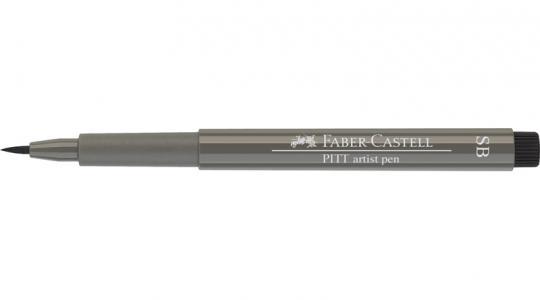 Faber Castell Tuschestift warmgrau IV 273 PITT artist pen SB soft brush