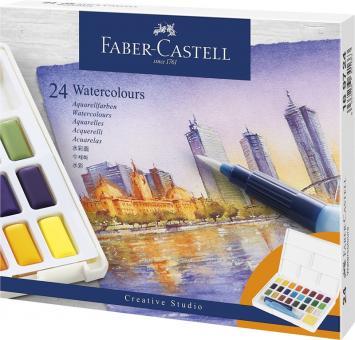 Aquarellfarbkasten / Näpfchen 24er Faber Castell