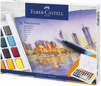 Aquarellfarbkasten / Näpfchen 36er Faber Castell